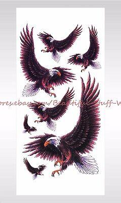 US SELLER-sticker tattoos hawk eagle Halloween face decal temporary tattoo (Halloween Face Decals)