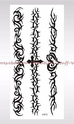 US SELLER-tribal armband bracelet black temporary tattoo Wholesale for Adults