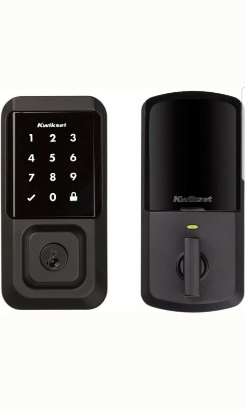 HALO Matte Black Touchscreen Wi-Fi Electronic Single-Cylinder Smart Lock Deadbol