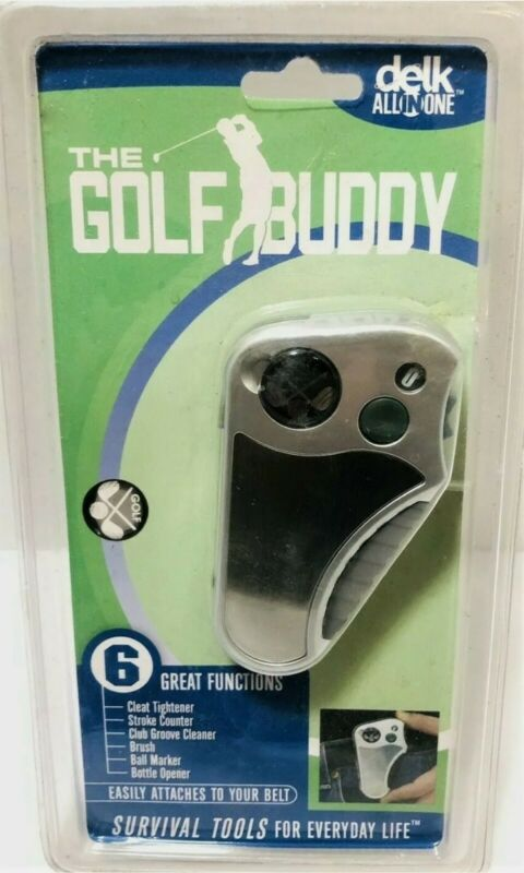 NEW Delk All in One Golf Buddy Tool-Stroke Counter-Ball Marker-Cleat Tightener+