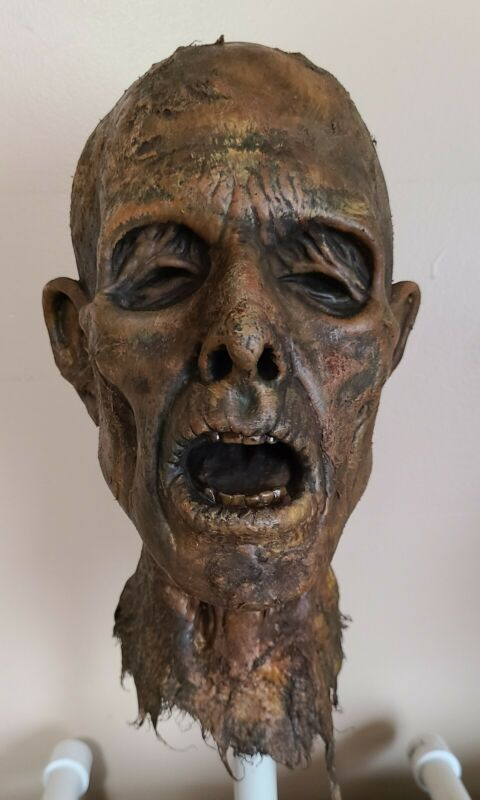 Rotted Corpse - Zombie Head - Severed Halloween Horror Prop - 091121-09