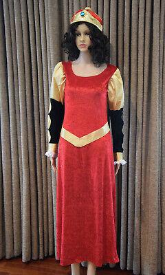 Vintage Queen Sz M/L Costume Renaissance Dress Halloween Hat Medieval