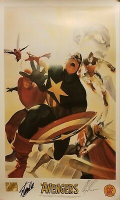 Stan Lee & Alex Ross Signed The Avengers MARVEL Limited Lithograph - JSA COA (Alex Ross Marvel Avengers Signed)