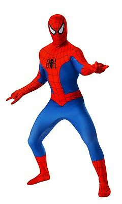 Marvel Spiderman Costume (Rubies Marvel Spider Man 2nd Skin Adult Mens Comics Halloween Costume)