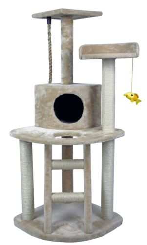 """Hiding Cat Tree™ 48"""" Play House Condo Furniture Bed Tower..."""