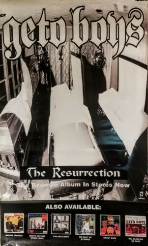 "GETO BOYS  ""THE RESURRECTION"" Promo Poster VG Suitable  For Framing 1996"