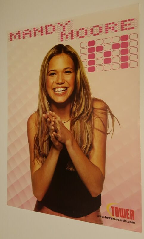MANDY MOORE PROMOTIONAL ONLY POSTER FOR TOWER RECORDS - NOW DEFUNCT RECORD STORE