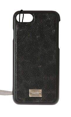 NEW $120 DOLCE & GABBANA Phone Case Gray Leather Leopard Pattern Cover iPhone6