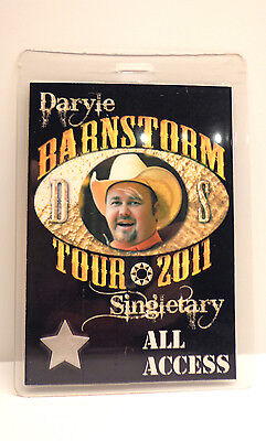 """Daryle Singletary All Access Backstage Pass """"Barnstorm Tour 2011"""" - Authentic"""
