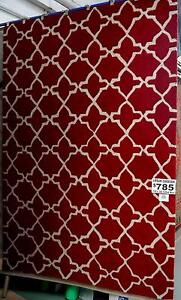 New 190 x 280 Plush Red Wool Geometric Caravan Rugs Melbourne CBD Melbourne City Preview