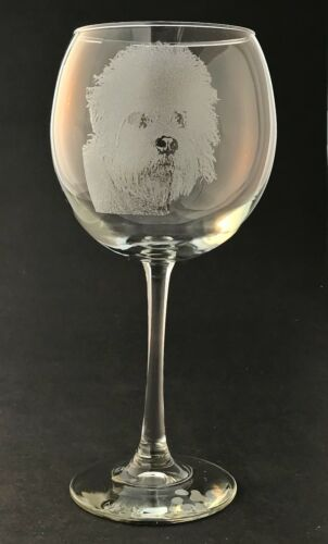 Etched Dandie Dinmont Terrier on Elegant Wine Glasses-Set of 2