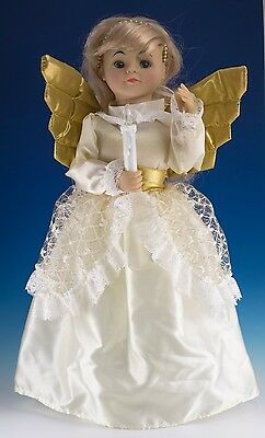 Middleton Christmas Angel Animated Musical Doll w/Lighted Candle 14