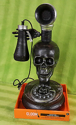 Gloom Halloween Prop Spooky Sound Effects Animated Haunted Phone Skull Skeleton