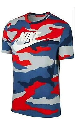 Nike Sportswear Shirt Camo Military Fashion BV7674-012 Hype NSW Men's X-Large