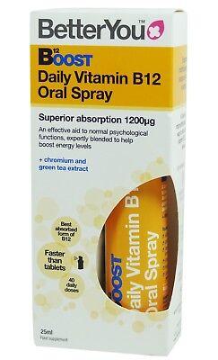 BETTER YOU B12 BOOST DAILY VITAMIN b12 ORAL SPRAY (Best B12 Oral Spray)