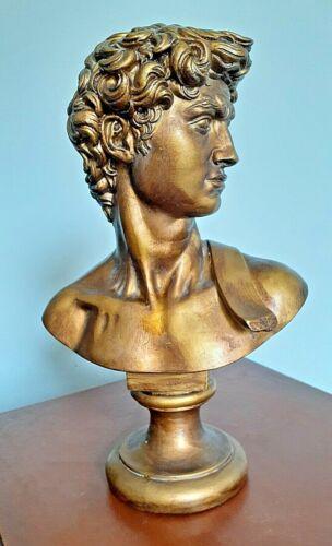 David Bust Michelangelo Renaissance sculpture statue art décor head Italy bible