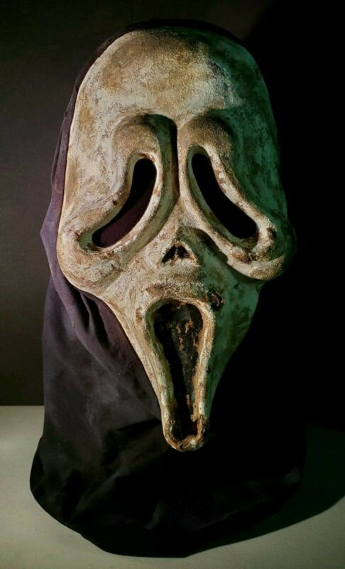 Concept Scream KNB Ghostface Killer Inspired Replica Handmade Latex Mask W/ Hood