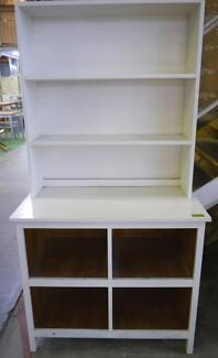 RRP. $595. Ex Display Timber White Farmhouse Bookcase Storage