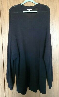 American Eagle Woman's Oversized Crew Neck Sweater, Black, XXL, Excellent Condit American Eagle Cotton Sweater