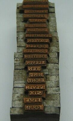 Printing Letterpress Printers Block Lot Of Numbers Spelled Out