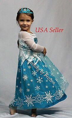 Princess Elsa Halloween Costume (Princess Elsa inspired Dress, Princess Elsa Halloween costume Frozen -)
