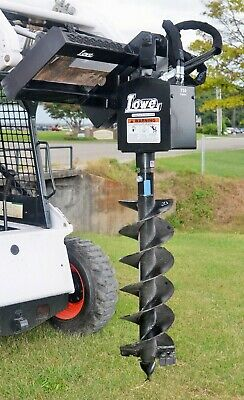 Lowe 750 Round Auger Drive Digger With 12 Wide Bit Fits Skid Steer Quick Attach