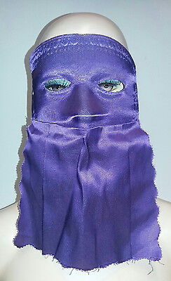 Purple Curtain Domino Eye Mask - Purple Domino