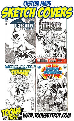 Original Comic Art Commission  Custom Sketch Covers  Any Character  Please Read