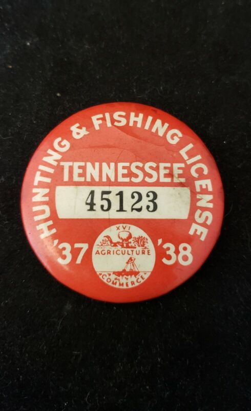 1937-38 Tennessee Hunting and Fishing License *12