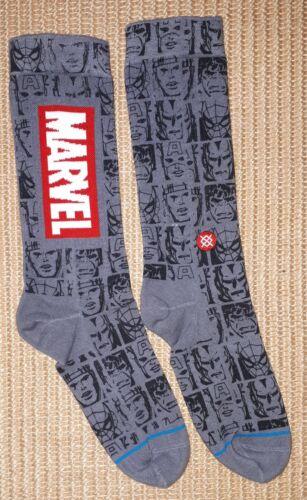 graue Marvel-Socken Stance Icons in Gr. 40/42