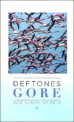DEFTONES Gore 2016 Ltd Ed RARE Litho Poster +FREE Sticker & Rock/Metal Poster!