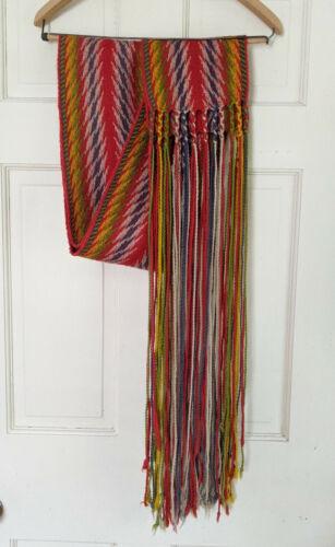 Vintage Canadian Assumption Wool Sash Cienture fléchée, length 132 inches