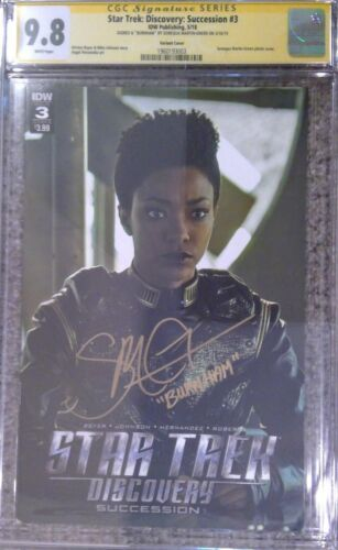 Star Trek: Discovery: Succession #3__CGC 9.8 SS__Signed by Sonequa Martin-Green