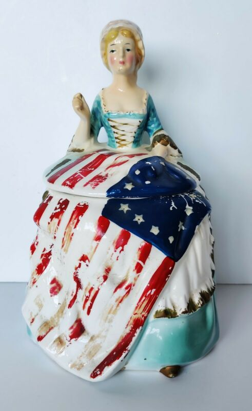 BETSY ROSS by ENESCO COLLECTOR COOKIE JAR