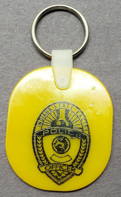 INDIANA ABC STATE EXCISE TAX POLICE OFFICER KEY CHAIN RING DUI ALCOHOL KEY FOB