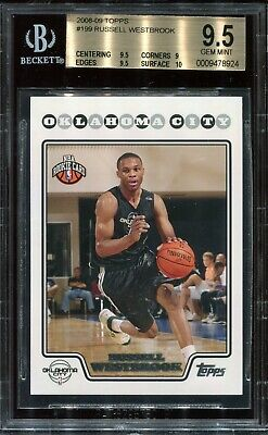 RUSSELL WESTBROOK Rockets 2008 Topps 199 BGS 9.5 10 sur GEM MINT triple double