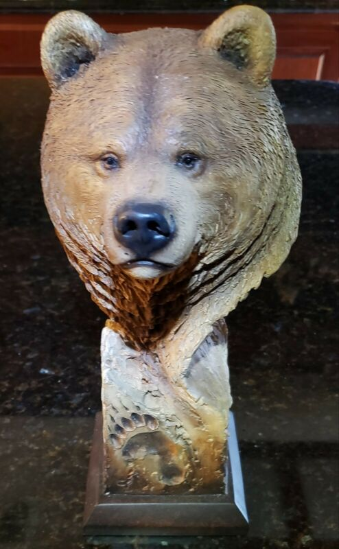 Rare Mill Creek Studios Bear Sculpture Grizzly MCSI Figure Slockbowerc Signed