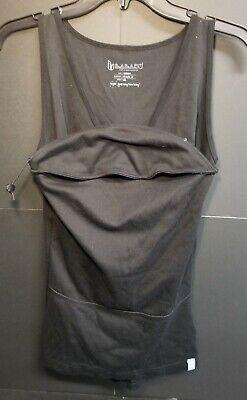 Lalabu Her Soothe Shirt Black Kangaroo Tank Tees Newborn Baby Carrier M (fits S)