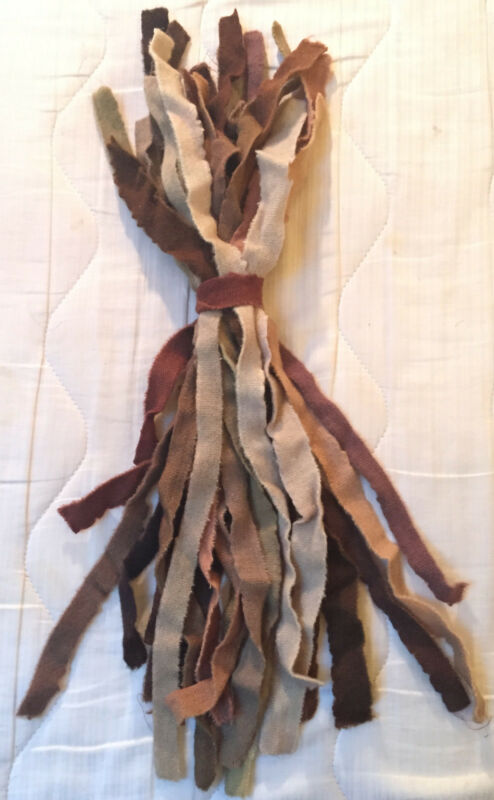 Bundled Hand-Dyed Wool Selvedges for Crafts, Prodding, Braiding Rugs #1