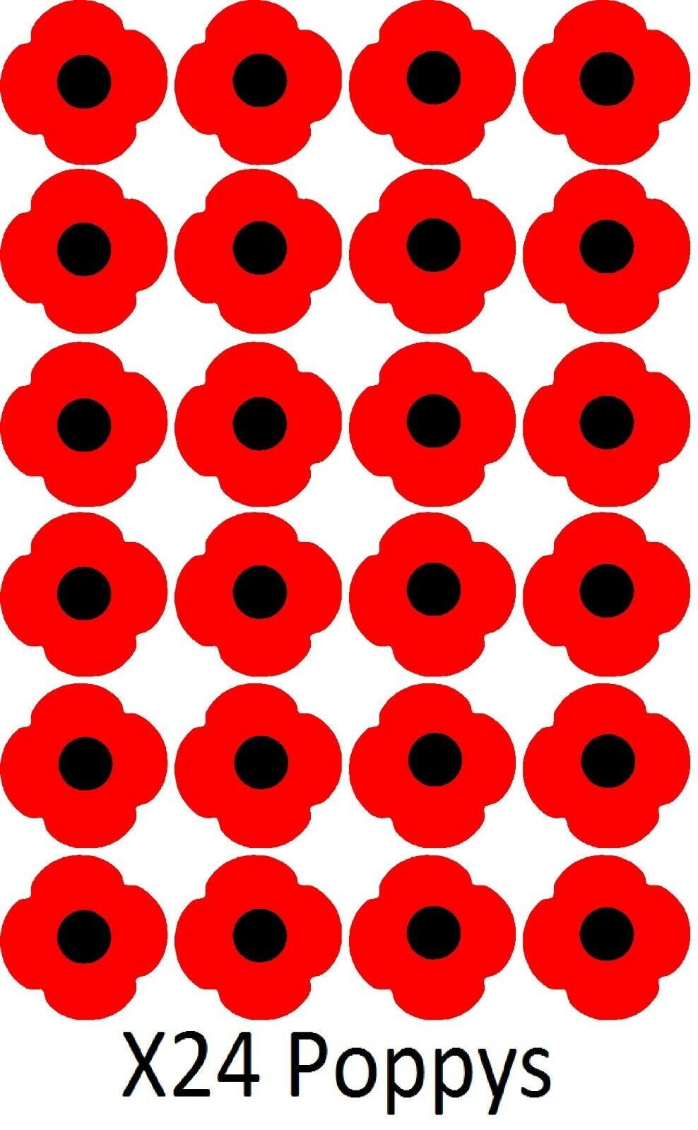 Home Decoration - x24 Poppy Remembrance vinyl sticker stickers craft diy Lest We Forget car home