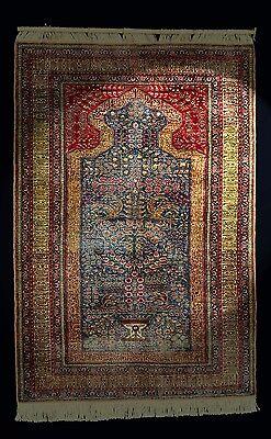Kayseri Seidenteppich 174x118  silk rug tapis tappeto Wand-Teppich Orientteppich