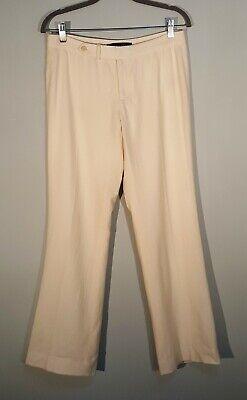 Ralph Lauren Size 6 Wool Cashmere Blend Ivory Dress Pants Trousers Lined Cashmere Blend Pants