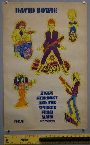 David Bowie Ziggy Poster Original RCA Promo 1972