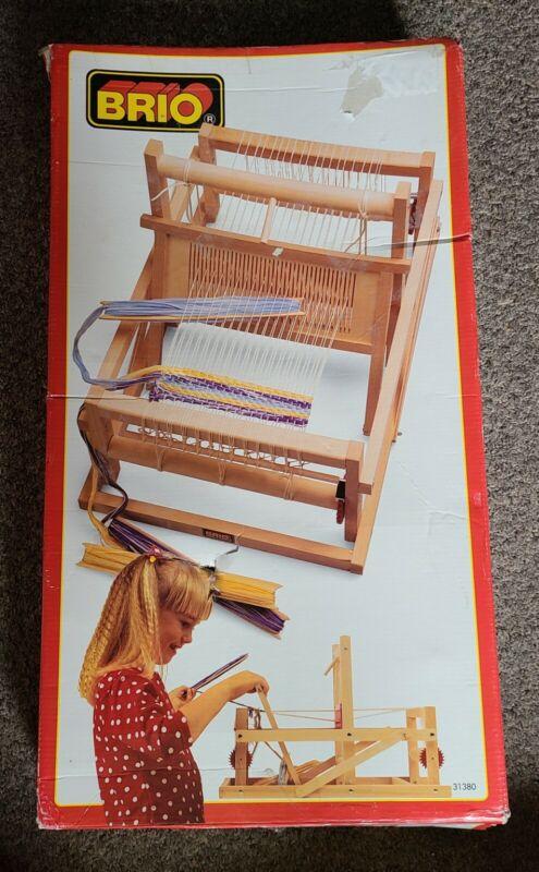 Vintage Brio Collapsible Portable Tabletop Weaving Loom ( brio wooden tailor  )