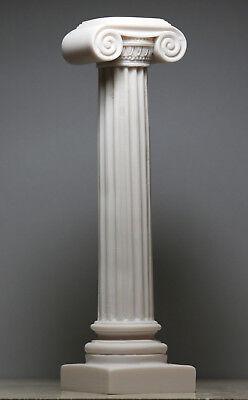 Greek Ionic order Column Pillar Pedestal Statue Handmade Sculpture Decor 9''