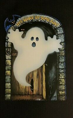 1980 VINTAGE HALLMARK HALLOWEEN GHOST W BAT DIE CUT -