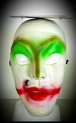 Halloween Mask Alien Clown Funny Scary It The 70's / 80's Bank Robber Type