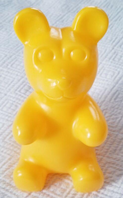 Coin Bank Yellow Gummy Bear Hard Plastic