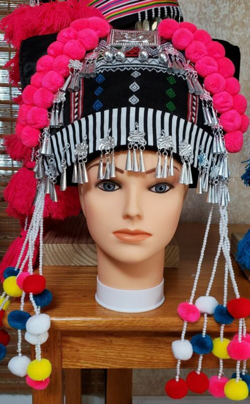 New Pom Pom handmade Hmong Hats with good quality products