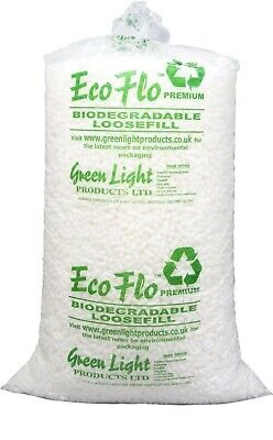 15 CUBIC FOOT OF ECO FLO LOOSE FILL PACKING PEANUTS TOP QUALITY. Collection only